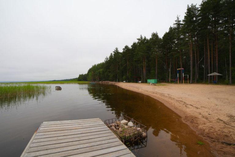 Посидеть на пристани озера Отрадное. База отдыха Розовая дача
