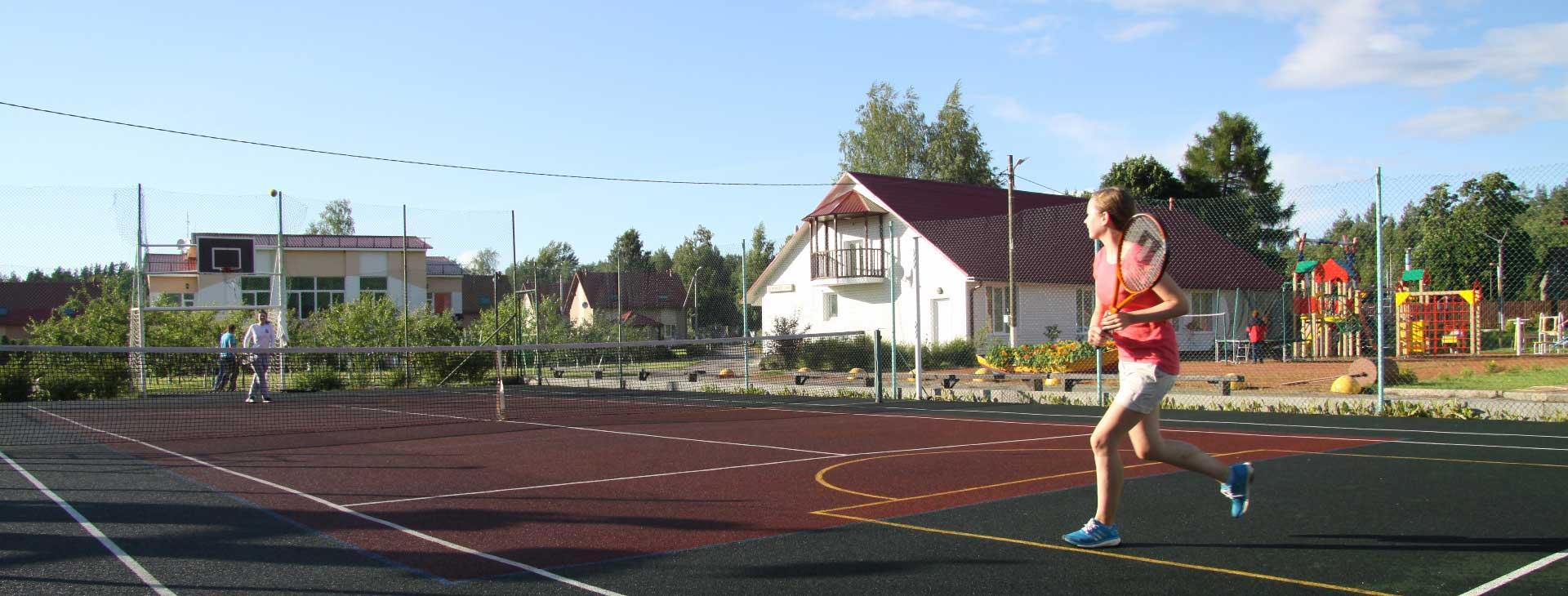 Игра в большой теннис на Розовой даче