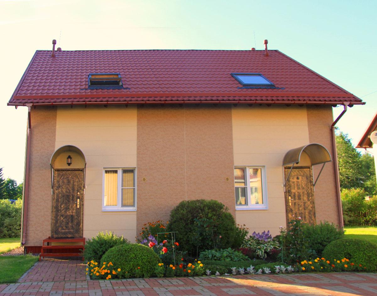 Дуплекс коттедж для двух семей. Отдельный вход. База отдыха Розовая дача.