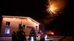 Новый год Фейерверк база отдыха Розовая дача