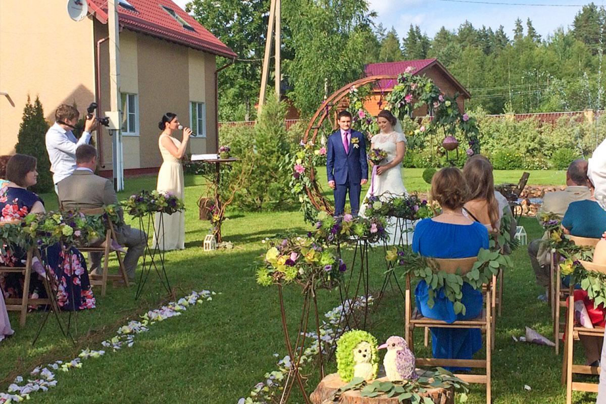 Свадьба у фонтана. База отдыха Розовая дача
