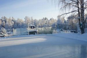 Зимний каток. База отдыха Розовая дача